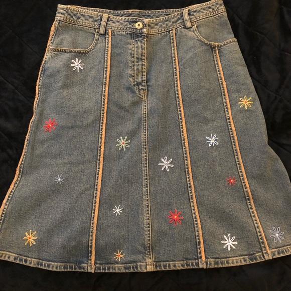 Dkny Dresses & Skirts - DKNY Denim Embellished Skirt
